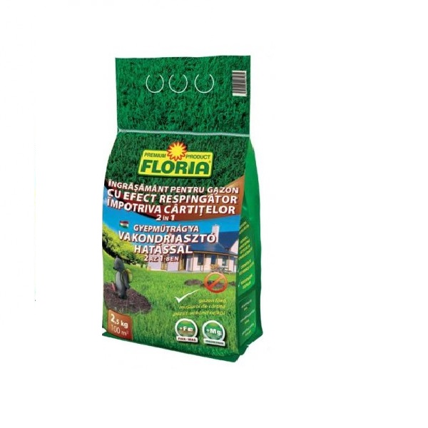 Ingrasamant Pentru Gazon Cu Efect Anti-cartite 7 5 Kg Floria