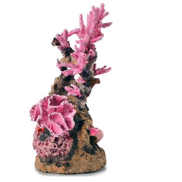 Sculptura Decorativa Recif Cu Insertii Roz
