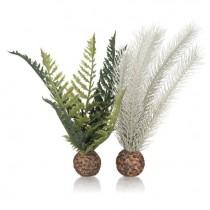 Set decoratiuni acvariu biOrb ferigi gri / verde, S