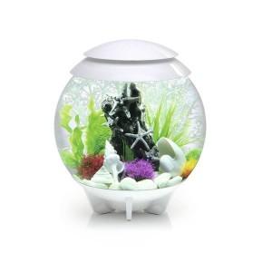 Set complet acvariu cu decoratiuni BiOrb Halo 30 litri MCR, Alb
