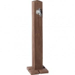 Cismea apa tip stalp cu robinet Wood, culoare lemn inchis