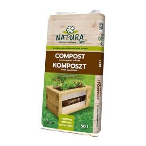 Compost pentru jardiniere Natura, 50 litri, strat 2