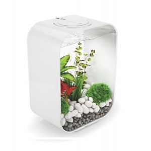 Set complet acvariu cu decoratiuni BiOrb Life 15 litri LED, Alb