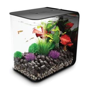 Set complet acvariu cu decoratiuni BiOrb Flow 30 litri MCR, Negru