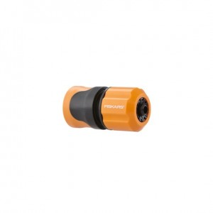 Conector furtun de gradina cu STOP Fiskars,9mm-3/8''
