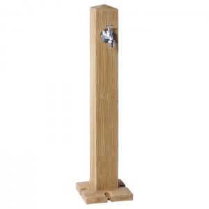 Cismea apa tip stalp cu robinet Wood, culoare lemn deschis