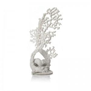 Ornament BiOrb sculptura coral alb, mare