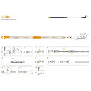 Set snur de schimb si maner pentru Fiskars UPX82 si UP82