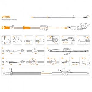 Set snur de schimb si maner pentru Fiskars UPX86