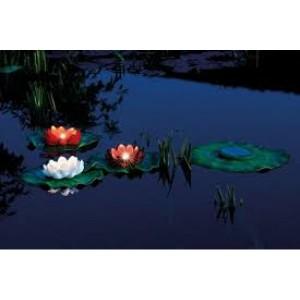 Set iluminare cu nuferi Pontec PondoSolar Lily LED set 3