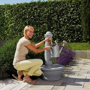 Cismea apa tip fantana cu robinet Roma, culoare granit